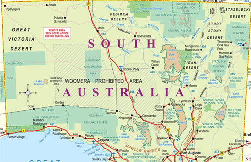 outback south australia map