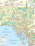 South Australia Holidays and Travel - SA Travel- Holidays - SA -  Accommodation - Australian Travel Wholesalers Pty Ltd map